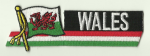 Wales Embroidered Flag Patch, style 01.